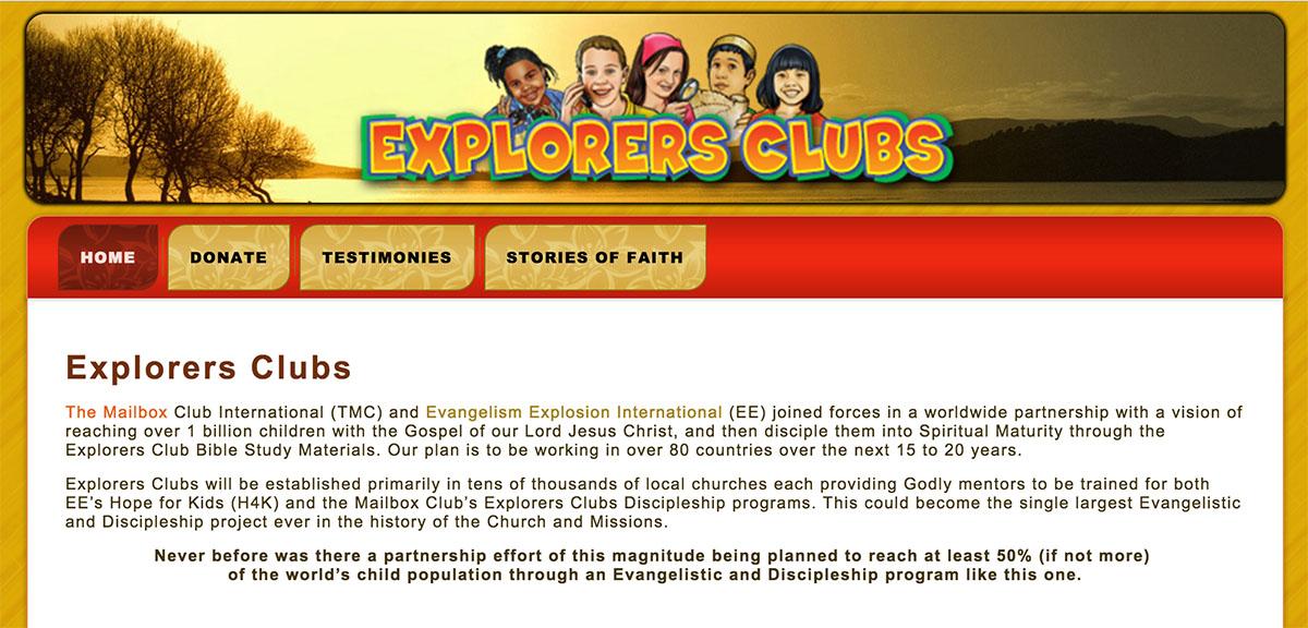 Explorers Clubs Website