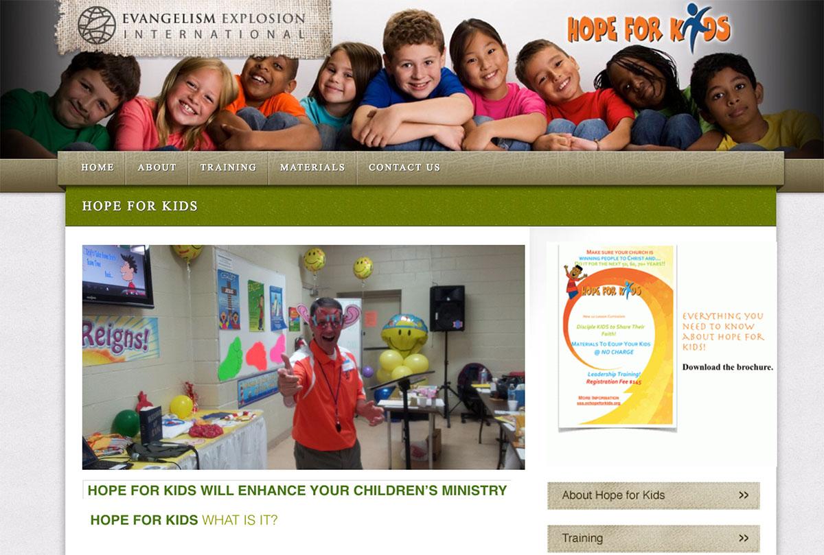 USA Hope For Kids Website