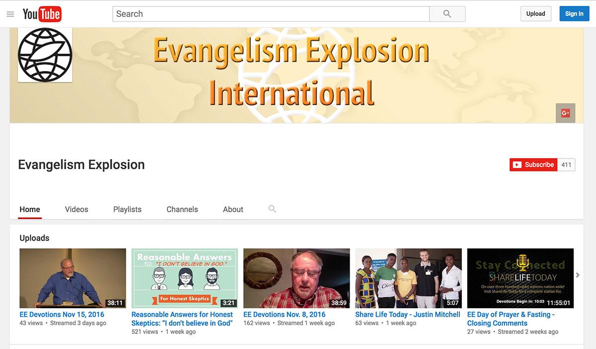 Evangelism Explosion Youtube